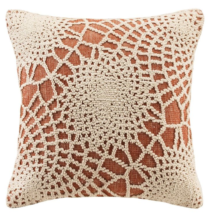 Crochet Pattern Orange Throw Pillow Products, Crochet and Orange