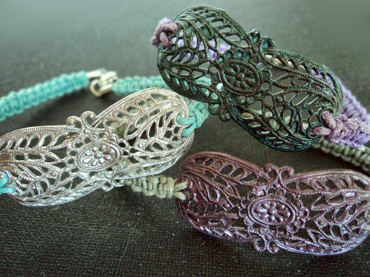 KARMA: Metallic vintage bracelets ❤      #Handmade #filigree #macrame #boho