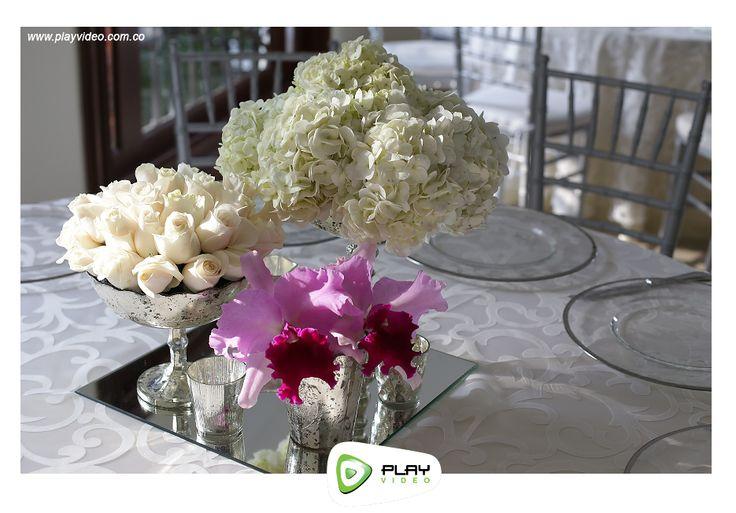 Centro de mesa, boda de salón
