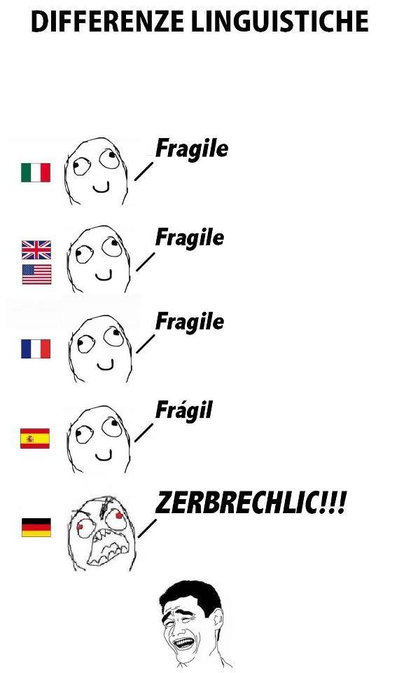 Fragile in German