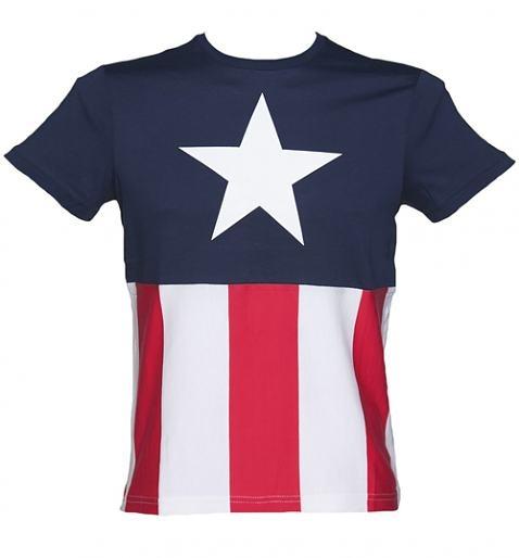 Men's Captain America Marvel Costume T-Shirt xoxo