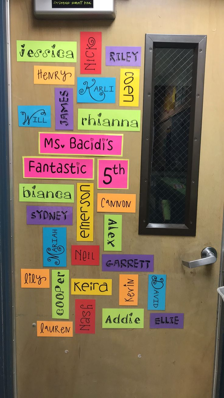 Student Names Wordle - brighten up your classroom door and ...