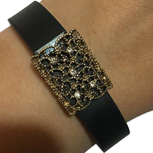 Fitbit Flex Jawbone Up Jewelry to Accessorize Your Fitness Activity Tracker Bracelet  Elegant Ornate Classic Gold Embellished TRINIDAD Jewelry Bracelet Accessory * Find out more about the great product at the image link.