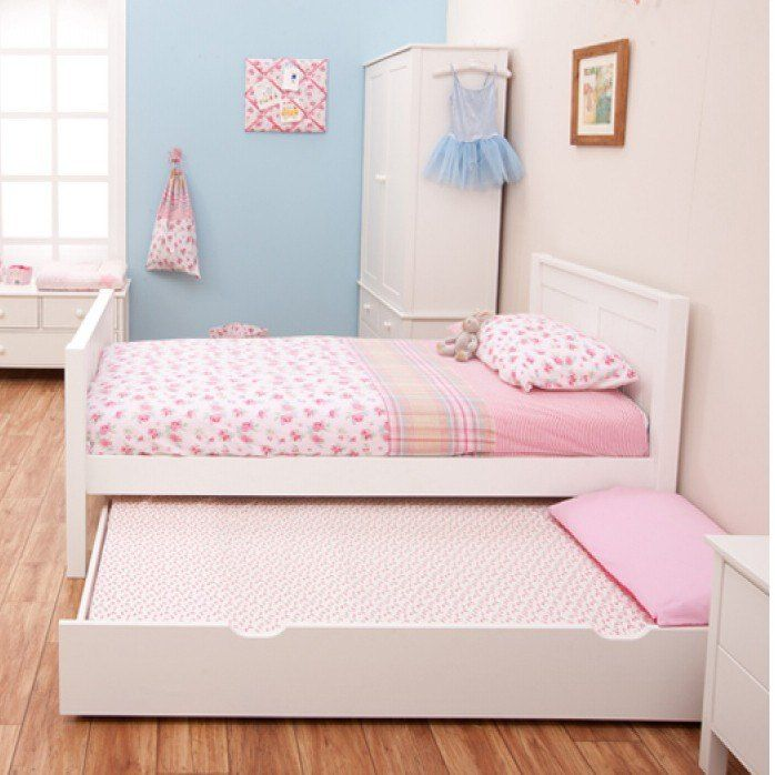 Kids White Single Bed Beds