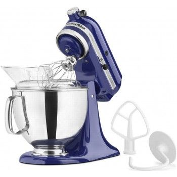 Would be cool to go up a size ... and it's pretty KitchenAid Artisan Stand Mixer, Cobalt Blue 5 Quart