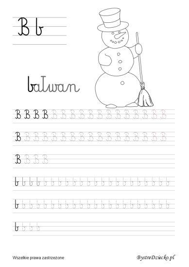 B pisane - nauka pisania dla dzieci,  Anna Kubczak