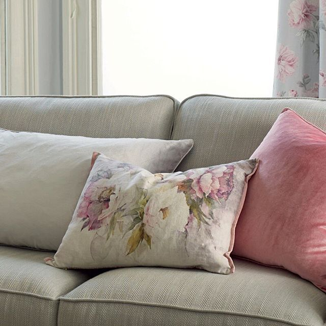 If you love peonies you're sure to love our Peonies Cyclamen cushion. A beautiful art worked print in soft silvers and pinks. Paired perfectly with our Nigella Velvet cushion, also in Cyclamen.