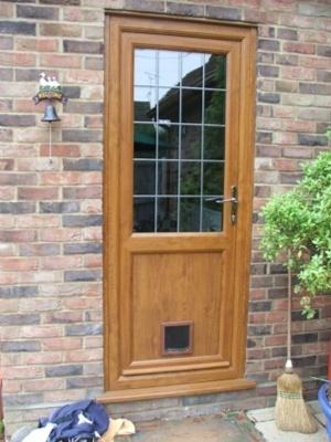 BROWN UPVC DOOR - Made To Measure - NOT Flat Pack #09 |