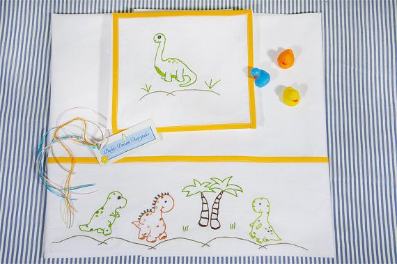 baby linen sheet pillowcasehand embroidered lovely