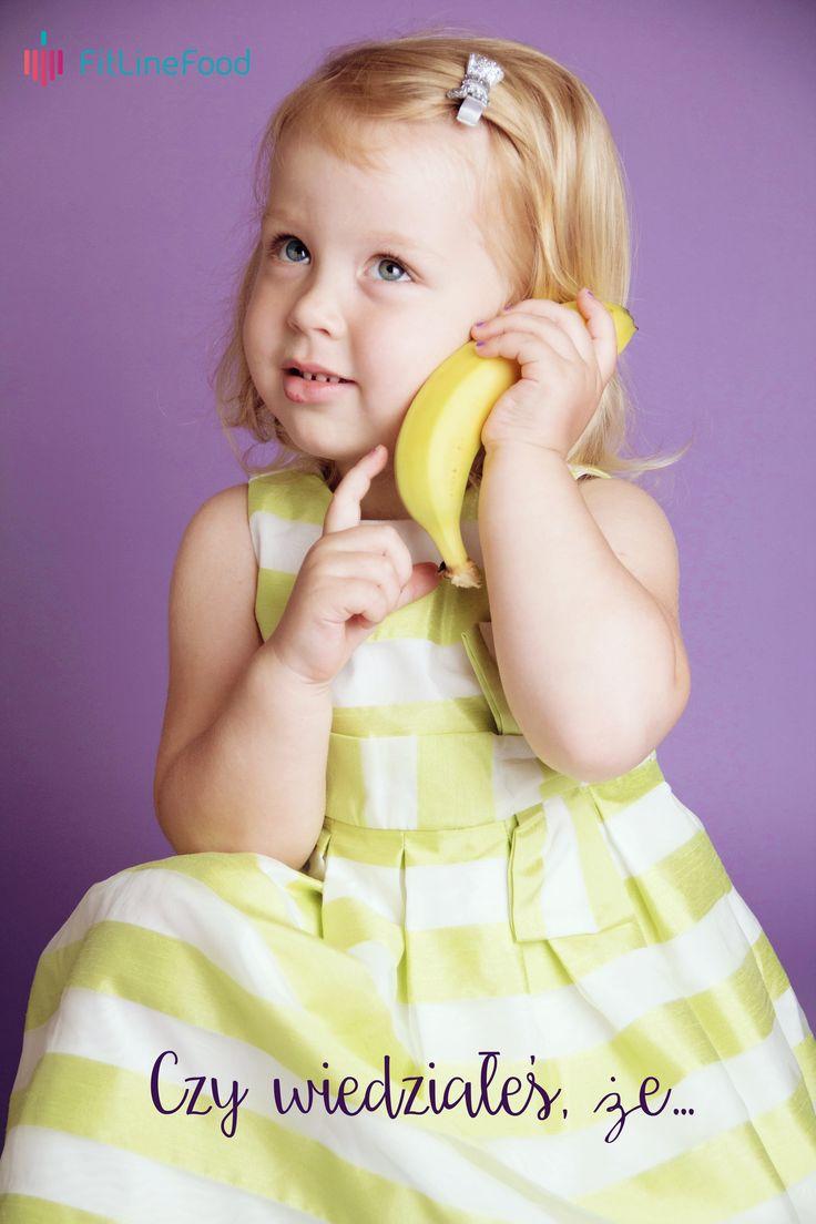 Czy wiedziałeś, że... banany pomagają dotlenić mózg?  www.fitlinefood.com