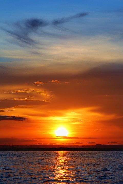 Sunset on the Malecon, La Paz, Baja California Sur, Mexico.