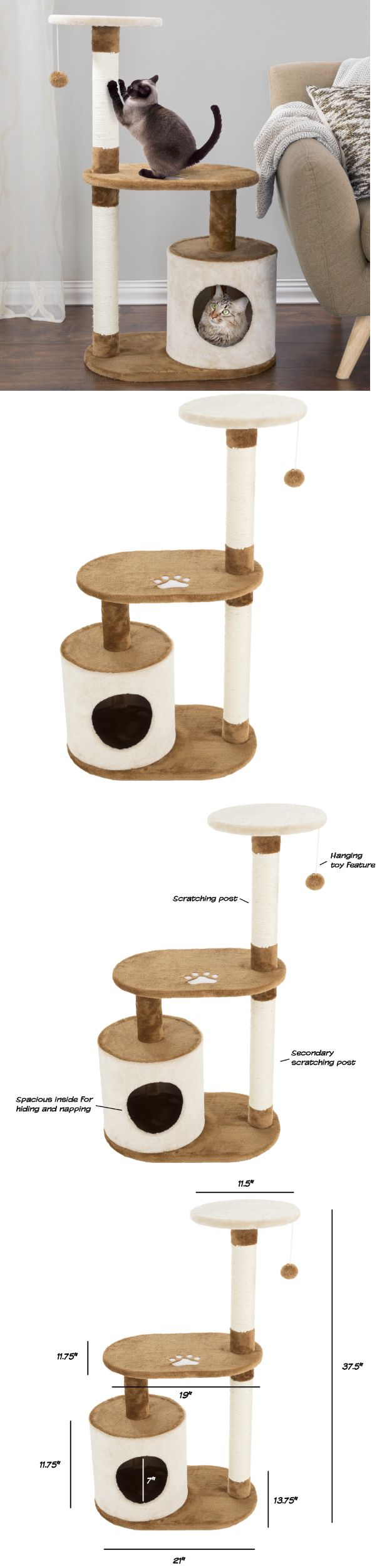 Animals Cats: Best Cat Scratching Post Tree Tower Large Condo Play House Furniture Kitten Toys -> BUY IT NOW ONLY: $49.99 on eBay!
