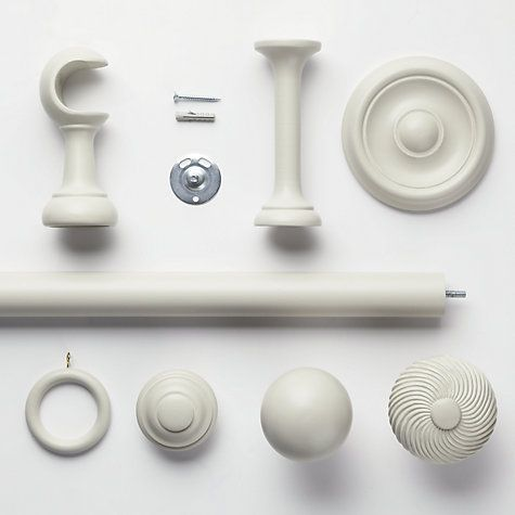 Buy John Lewis French Grey Curtain Pole, Dia.35mm Online at johnlewis.com