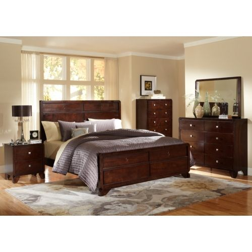 Baxton Studio Tichenor Queen 5 Piece Wooden Modern Bedroom Set For The Best  Deal Price Of Affordable Modern Furniture In Chicago.