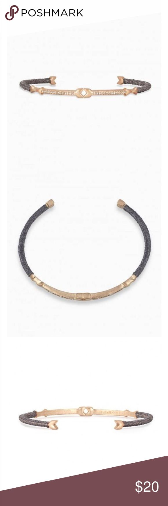 Beautiful Resilience cuff Stella and Dot bracelet Rose gold, silver silky wrap and micro pave stones. Love this bracelet! Stella & Dot Jewelry Bracelets