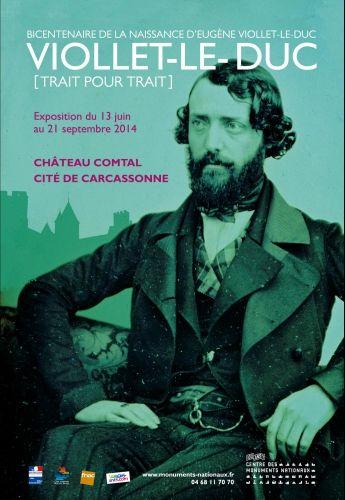 Affiche exposition Viollet-Le-Duc 2014 à Carcassonne.