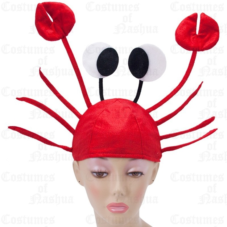 Crab Hat - Seafood Hat, Funny Hat, Silly Hat, Novelty Hats