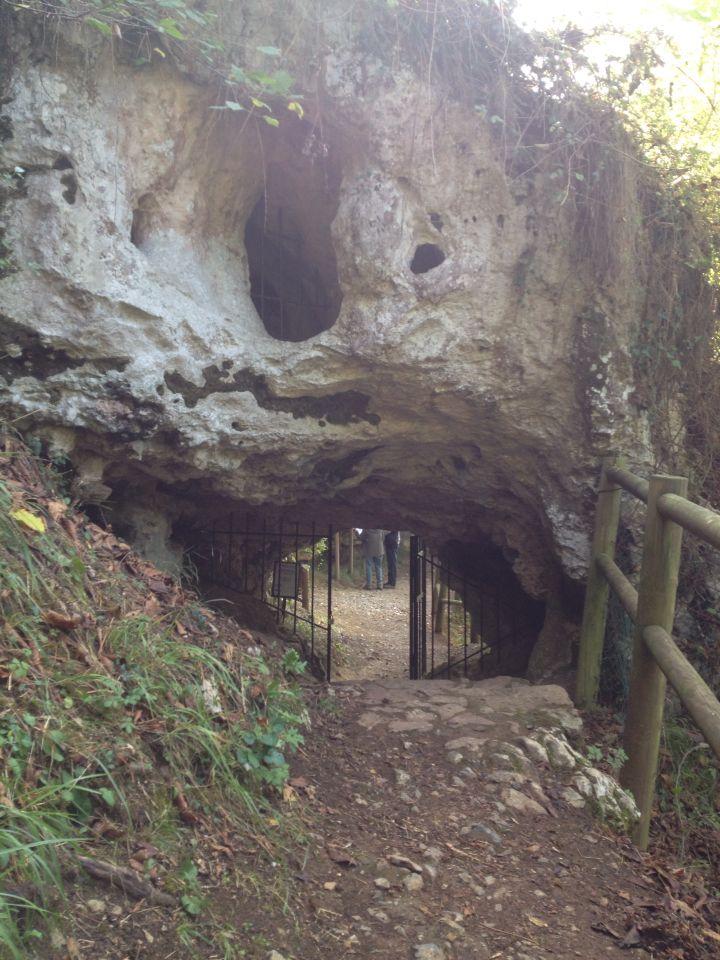 Cueva del Buxu, pinturas rupestres en #CangasdeOnis, #Asturias