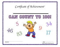 This site has several awards-I can count to 100;  I can tie my shoes, etc.