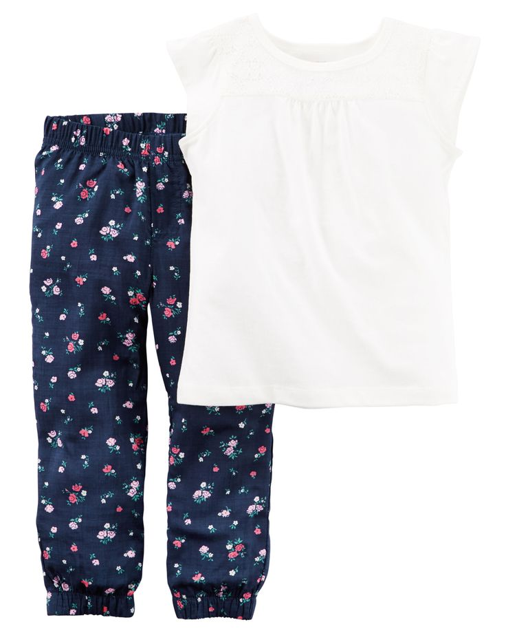 Baby Girl 2-Piece Top & Jogger Set | Carters.com