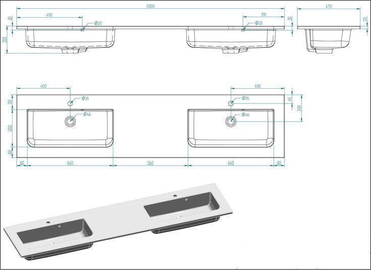badmoebelset colossos 200 4 teilig m led spiegel beton
