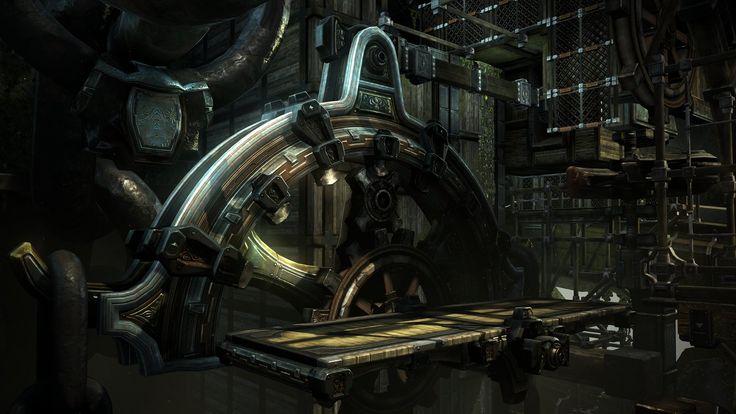 God of War: Ascension Arm SeeSaw Gear Puzzle, Shane  Estanislao on ArtStation at https://www.artstation.com/artwork/god-of-war-ascension-arm-seesaw-gear-puzzle