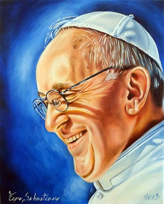 Papa Francesco  Ritratto olio su tela 40X50