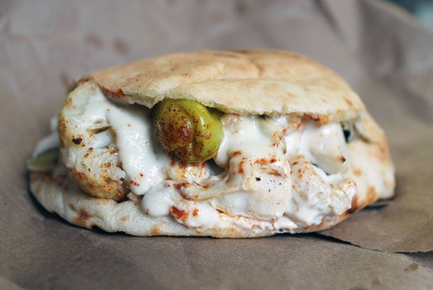 The roasted cauliflower sandwich from Fat Pasha.