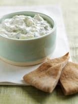 Derby Benedictine :0)  1 large cucumber  8 ounces cream cheese, softened  2 tablespoons grated onion  1/4 tsp salt  1 tablespoon mayonnaise  dash green food coloring (optional)