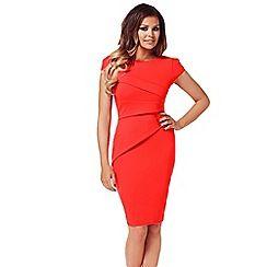 Jessica Wright - Red 'Vicky' bodycon midi dress