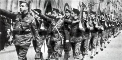 "Estimated 8000 Portuguese volunteers ""Viriatos"" joined Franco's army in the Spanish Civil War 1936-39"