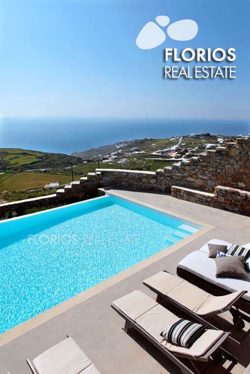 Enjoy a dip in the pool while gazing at the stunning panoramic sea view! FL1026 Two Villas for Sale on Mykonos island Greece. FL1026 http://www.florios.gr/en/mykonos-property/17.html