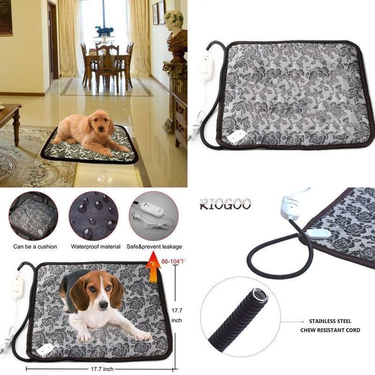 Pet Heating Pad, Indoor Safe Electric Waterproof Warming Bed Heater for Dog/Cat #RIOGOO