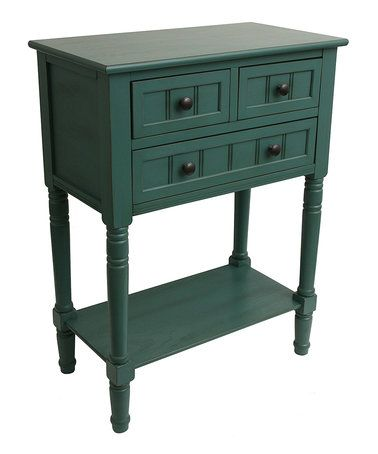 Another great find on #zulily! Teal Three-Drawer Console Table #zulilyfinds