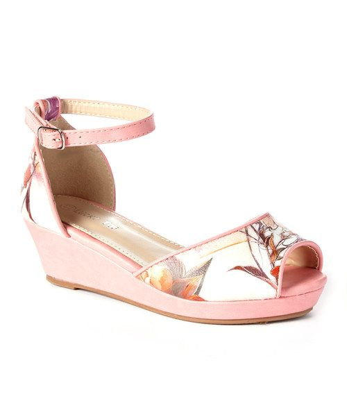 Look at this Lucky Top Coral Kathy Wedge on #zulily today!