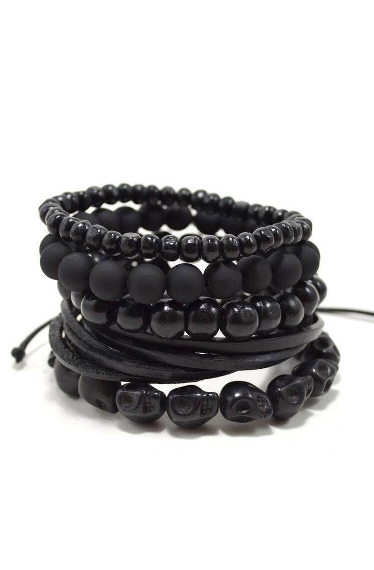 Conjunto Black Bracelets