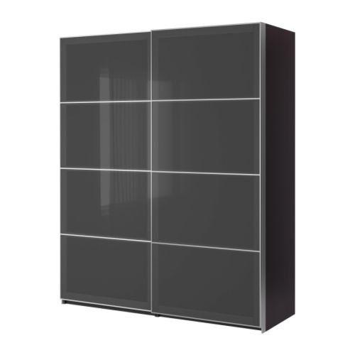 IKEA(イケア) PAX ブラックブラウン 150x66x201 cm 69887365 ワードローブ 引き戸付、ブラックブラウン、ウッグダル グレー IKEA(イケア) http://www.amazon.co.jp/dp/B00C65EMRY/ref=cm_sw_r_pi_dp_3ilivb060BC0W