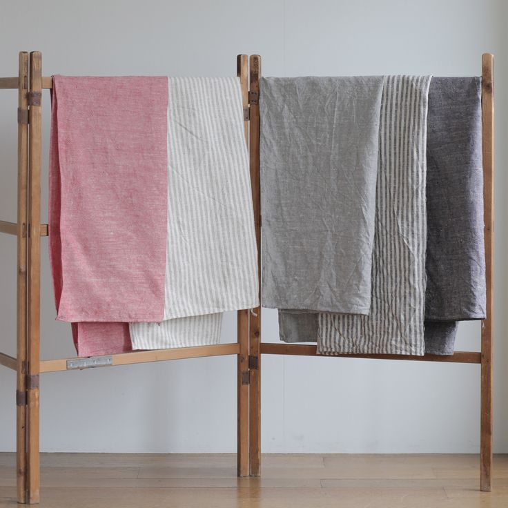 $52 Linen Chambray Towels: Grey