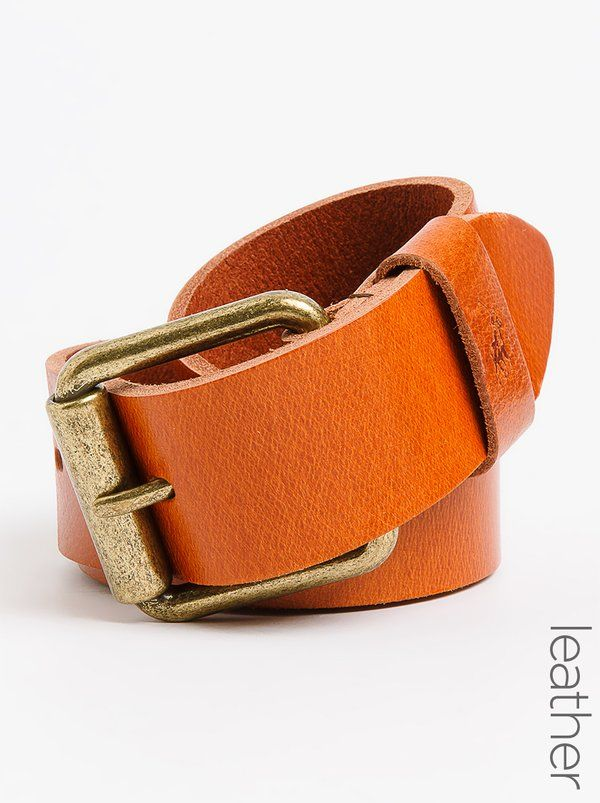 Polo Jeans Co. Hugo Leather Belt Tan