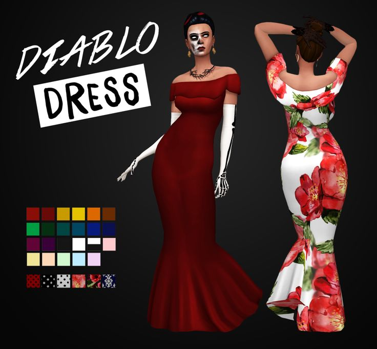 SIMBLREEN DAY 3Diablo DressA gown with Spanish flair for your sims! • Base game compatible • Comes in 23 Solids and 6 Patterns • For Teen-Elder • Disabled For Random DOWNLOAD: Mediafire | Simfileshare Lacey Gloves• Base game compatible • Comes 15...
