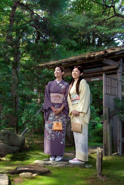 Young women in kimono in Ishikawa