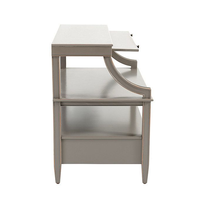 Sidney Open Side Table In 2020 Bedside Table Design Mirrored Side Tables Side Table