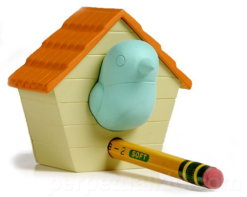 Birdhouse pencil sharpener (wonder if it's a good one, or just looks cute)