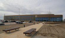 Foto van het nieuwe onderkomen van wehkamp.nl, het grootste geautomatiseerde distributiecentrum voor online retail ter wereld!