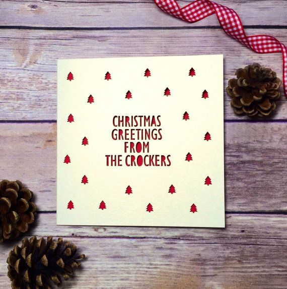 Personalised Christmas Card, Handmade Christmas Cards, Christmas from the, Papercut Christmas Card, Lasercut Card, Surname Cards