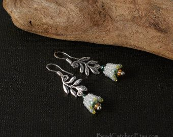 Lily of the valley spring earrings