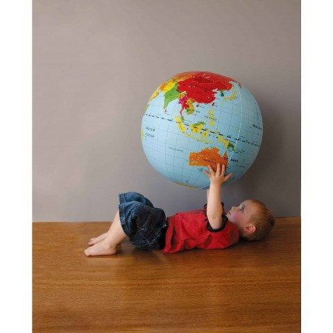 Tiger Tribe Inflatable World Globe - Gifts Online