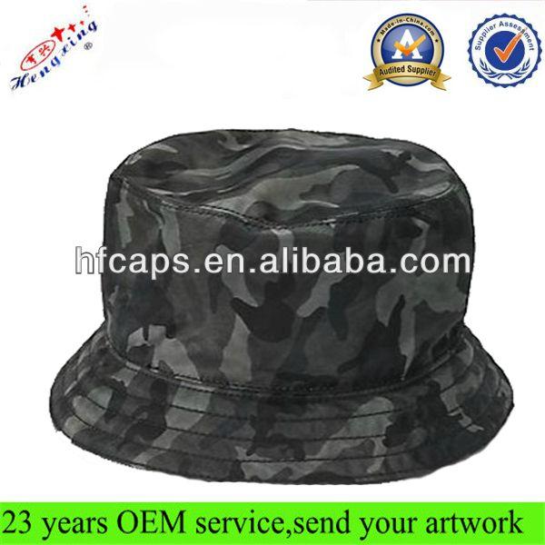 Camo bucket hat/cap custom designer cool wholesale blank army bucket hats/caps