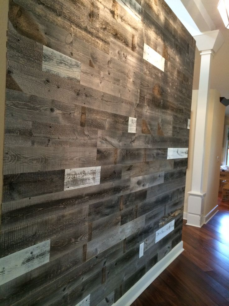 Reclaimed Weathered Wood Weathered Wood Feature Wall