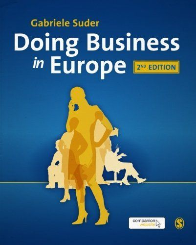 Doing Business in Europe by Gabriele Suder. $48.35. Edition - Second Edition. Publisher: SAGE Publications Ltd; Second Edition edition (January 24, 2012). Publication: January 24, 2012